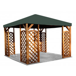 Tammiston Puu paviljonki Lux 400x400 cm + peite