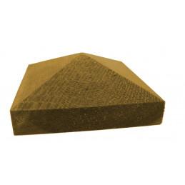 Tolpanhattu Tammiston Puu Pyramidi 107x107x50 mm 90 mm tolpalle