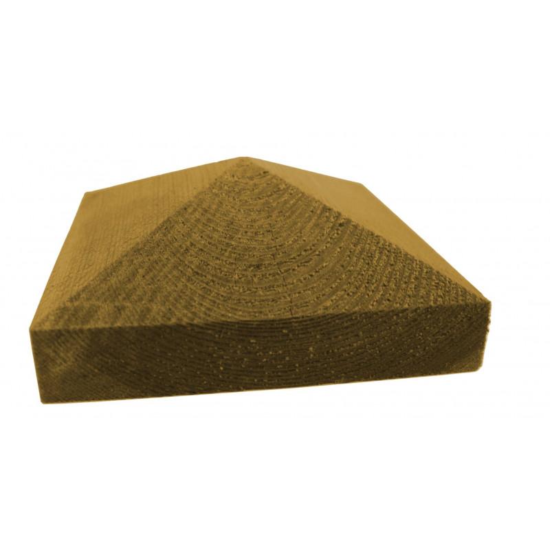 Tolpanhattu Tammiston Puu Pyramidi 123x123x50 mm 100 mm tolpalle